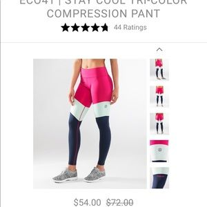Stay cool tri-color compression pants